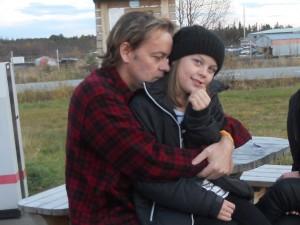jag och Amanda p-plats