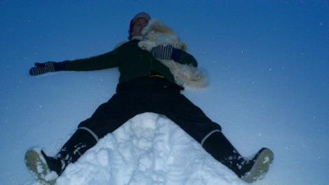 jag spike i snön