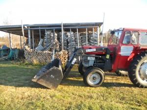 traktor ved